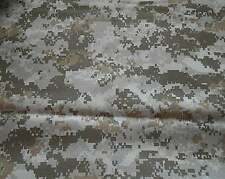 "Camo camouflage DESERT DIGITAL copy 100% polyester fabric 1 yd x 58"" wide"