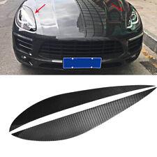 Carbon Böser Blick Scheinwerfer Blenden Tuning Set für Porsche Macan Bj.2014-18