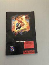Last Action Hero Super Nintendo SNES Instruction Manual Only