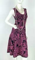 Missoni New 4 US 40 IT S Pink Black Cotton Stretch Knit Sheath Dress Runway Auth