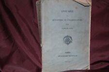 Annuaire du ministère de l'agriculture pour l'année 1910