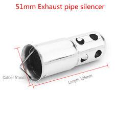 51mm Universal Exhaust Pipe DB Killer Silencer Muffler Baffle Eliminate Noise
