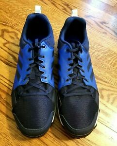 Men's Adidas Blue & Black Traxion Terrex Blue & Black Sneakers,  Size 10