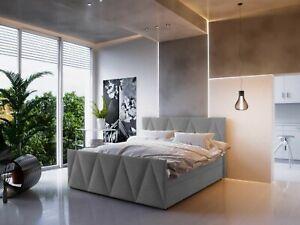 Boxspringbett MILANO 3 Hotellbett 140/160/180x200 Braun Creme Grau Bettkasten