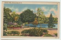 1944 Postmarked Postcard Central Park Schenectady New York NY
