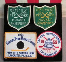 Vintage 1960s Ice Hockey Patches Tournaments Central Penn Lancaster,PA.Park City