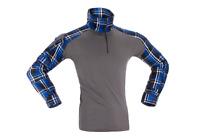 Flannel Combat Shirt blue INVADER GEAR