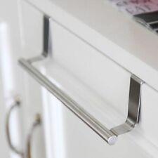 Stainless Steel Towel Rack Over Door Kitchen Cabinet Metal Bar Space Saver Bath