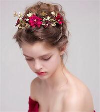Hot Bridal Wedding Flower Pearl Crystal Hair Comb Headband Accessories Headpiece