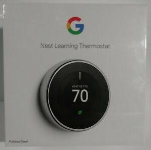 Google Nest Learning Thermostat 3rd Gen T3019US SEALED - SHIPS IN 1 BUSINESS DAY