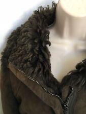 Patrizia Pepe Brown Shearling Jacket Size 12 *Boho, Hippy *Gorgeous
