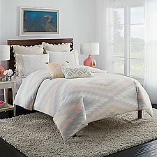 SOUTHWESTERN 3PC KING DUVET COVER CUPCAKES and CASHMERE KILIM ~GRAY PEACH YELLOW