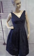 Emily and Fin Culminate in Charm Midi Dress Navy Emma Sz L Pockets UK 14 US 10