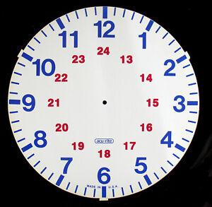 """11-9/16"""" Styrene 24 Hour Military Dial - Slight Second (C-652)"""