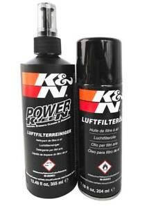 Kit Pulizia Filtro Aria Sportivo Cotone KN K&N Detergente 355ml Olio 204ml