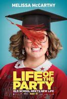"Life Of The Party ORIGINAL D/S 27"" x 40"" Movie PosterMelissa McCarthyRudolph"