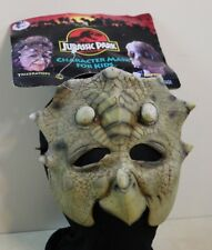 1992 Jurassic Park Triceratops Official Character Mask for Kids on Card