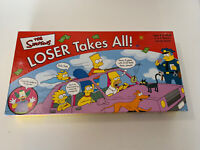 Simpsons Loser Takes It All Board Game - 100% Complete 2001 Very Good Condition