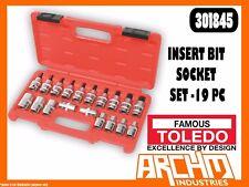 TOLEDO 301845 - INSERT BIT SOCKET SET -19 PC - TORX E-STAR FASTENERS AUTOMOTIVE