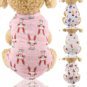CA Spring Summer Puppy Dog Cat Clothes Breathable Pet Clothing Outfit Supplies
