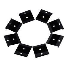 20PCs Display Card Fit Snap Button Black Lint Plastic 4.2x4cm