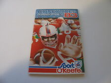 Montreal Concordes 1983 CFL Football Pocket Schedule - O'Keefe (in French)