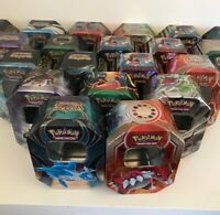 100 Random Pokemon Cards + Tin Bundle Including Holos, Rare Bulk Joblot Base