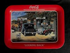 COCA-COLA - Coke Tray -  LOOKING BACK - Pamela C. Renfroe - Signed
