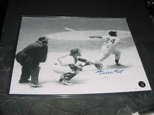 WILLIE MAYS signed auto 8X10 PHOTO (SAY HEY HOLOGRAM) psa/dna guarentee HR SWING