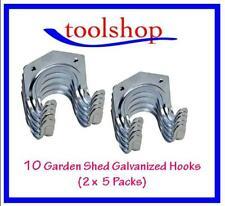 10 Piece Steel Hook Set Garden Shed Tools Brooms Tidy Garden Tool Hanging Clip