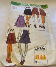 Vintage Original 70's  Ladies Skirts Simplicity Sewing Pattern Size 14 Cut