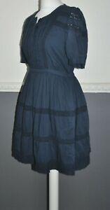 Jack Wills Ladies Navy Blue Dress 100% Cotton UK 10