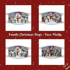 Christmas Family Portrait Dog Cat Pet Photo Face Masks, Personalized Custom Mask