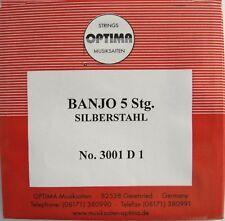 Set di corde per 5-saitiges Banjo argento acciaio loop end OPTIMA MADE IN GERMANY