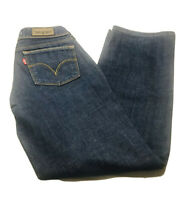 LEVI'S 570 Straight Fit Jeans Denim Ladies W29 Dark Blue Ex Cond - A3-03