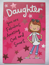 COLOURFUL FUNNY DAUGHTER YOU ARE AMAZING COOL SMART BIRTHDAY GREETING CARD