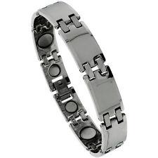 Tungsten Carbide Magnetic Bar Bracelet