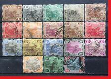 MALAYA 1922-34 Federated Malay States FMS Tigers 18V MSCA USED 1c-$1 M2554