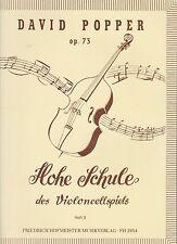 David Popper: alta escuela del violoncellspiels, partituras 73, cuaderno 3