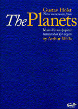 Gustav Holst Three Movements From The Planets Learn to Play Organ Music Book