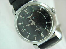 Vintage  Longines Watch Co. Swiss Automatic 17J Black Dial #9299081