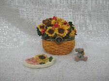 Boyds Bear Edmund's Sunny Basket W/ Potter McNibble Treasure Box 82537 Brand New