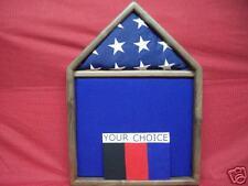 BLACK WALNUT 3 X 5 FLAG DISPLAY CASE DOCUMENT BOX a
