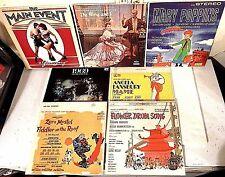 #63 Lot 7 Soundtrack LPs-Main Event-King & I-Fiddler On Roof-Mame-Flower Drum +