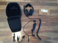 Bose A20 Aviation Headset Cable Aux , Dual Plug Cable - Black
