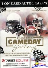 2014 Press Pass Gameday Gallery Football Factory Sealed Blaster Box-AUTOGRAPH RC