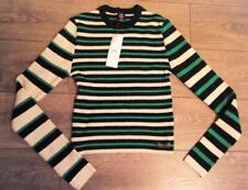 URBAN OUTFITTERS Green MOCK NECK STRIPE Crop Jumper size M BNWT RRP £34 #10