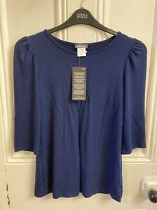 Kim & Co Sweater Knit Top X Small  Colour Navy  BNWT.