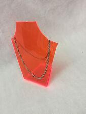Perspex Acrilico Arancione Fluorescente formata Collana Gioielli Stand Display Nuovo