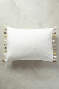 LAST PAIR Anthropologie Lindi Fringe Two Standard Shams GOLD NWT actual pic 👀